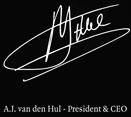 A.I. van den Hul - President & CEO - Signature